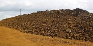images/gallery1/Stocks of umber from quarry before crushed.jpg